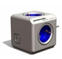 Πολυπριζο PowerCube Blue με 4 εξοδους Schuko και USB